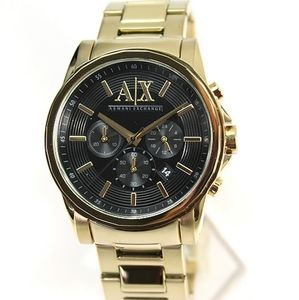Mens armani gold watch